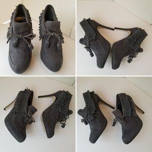 Anne Michelle boots Fringe Heel sz. 8.5